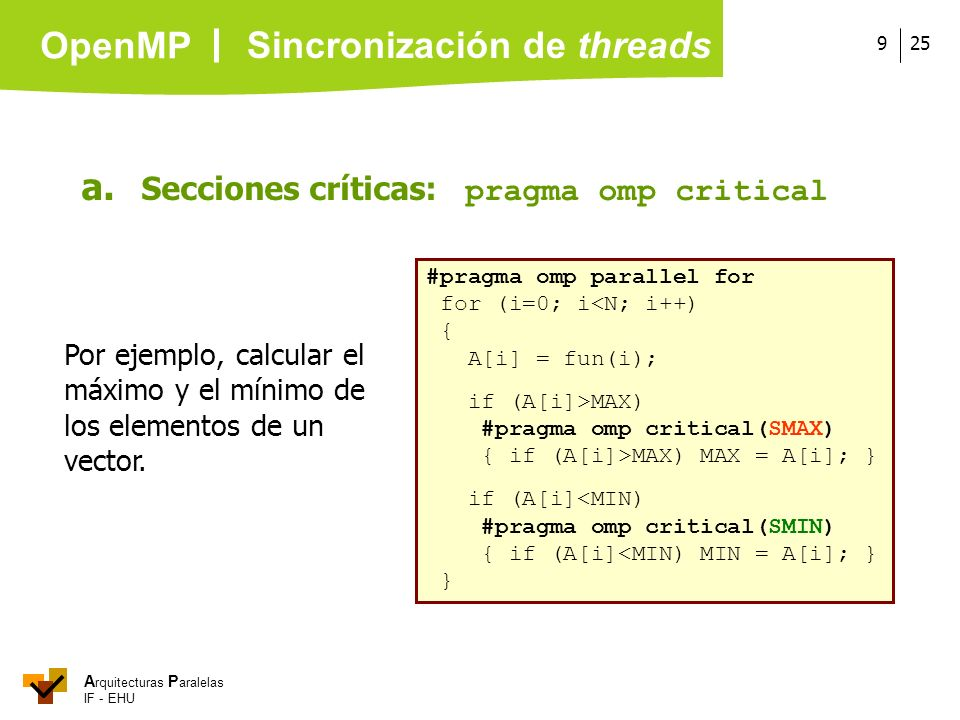 Sincronización de threads