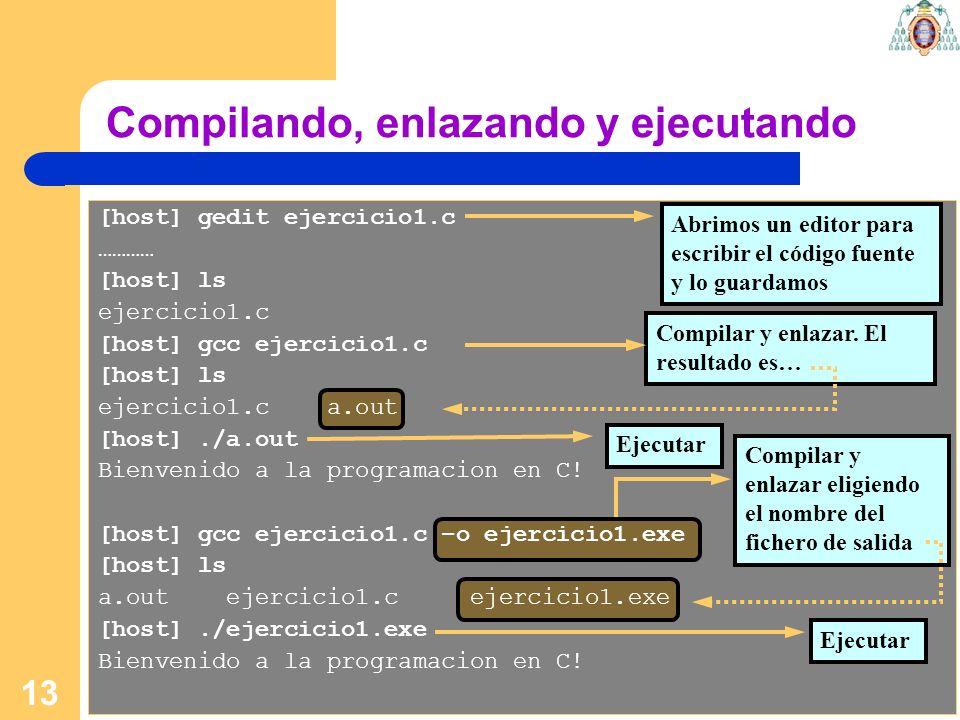 Compilando, enlazando y ejecutando