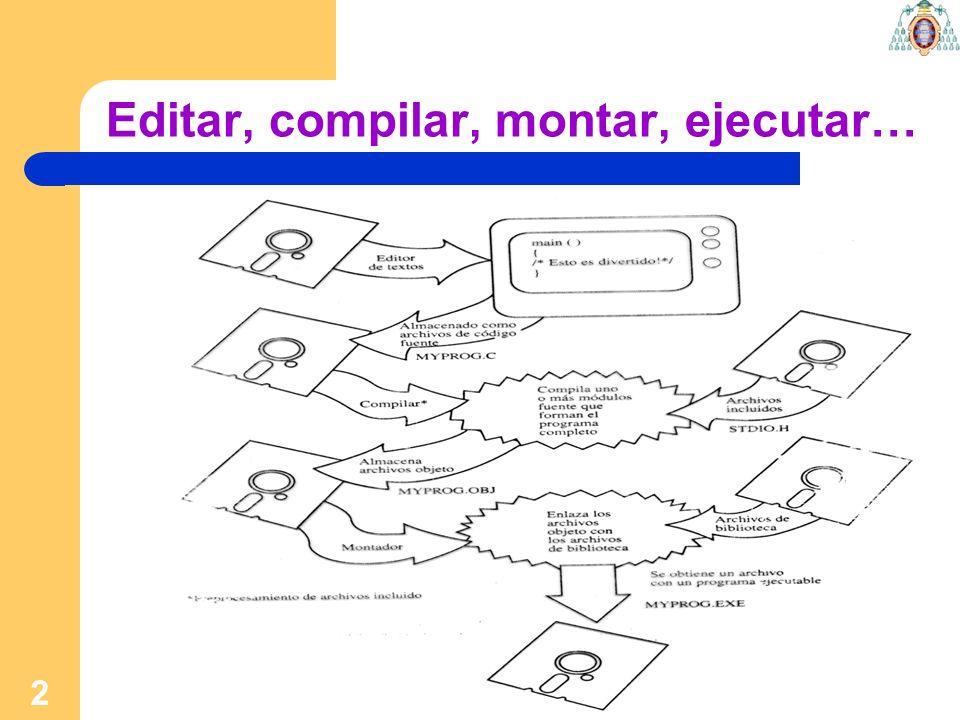 Editar, compilar, montar, ejecutar…