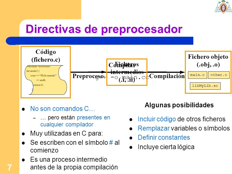 Directivas de preprocesador