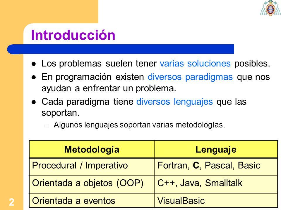 Introducción Los problemas suelen tener varias soluciones posibles.