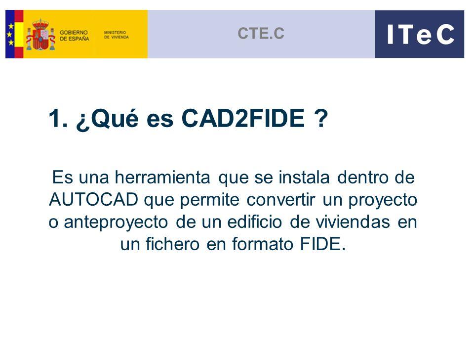 CTE.C 1. ¿Qué es CAD2FIDE