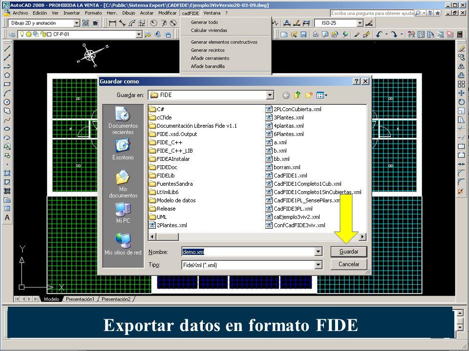 Exportar datos en formato FIDE