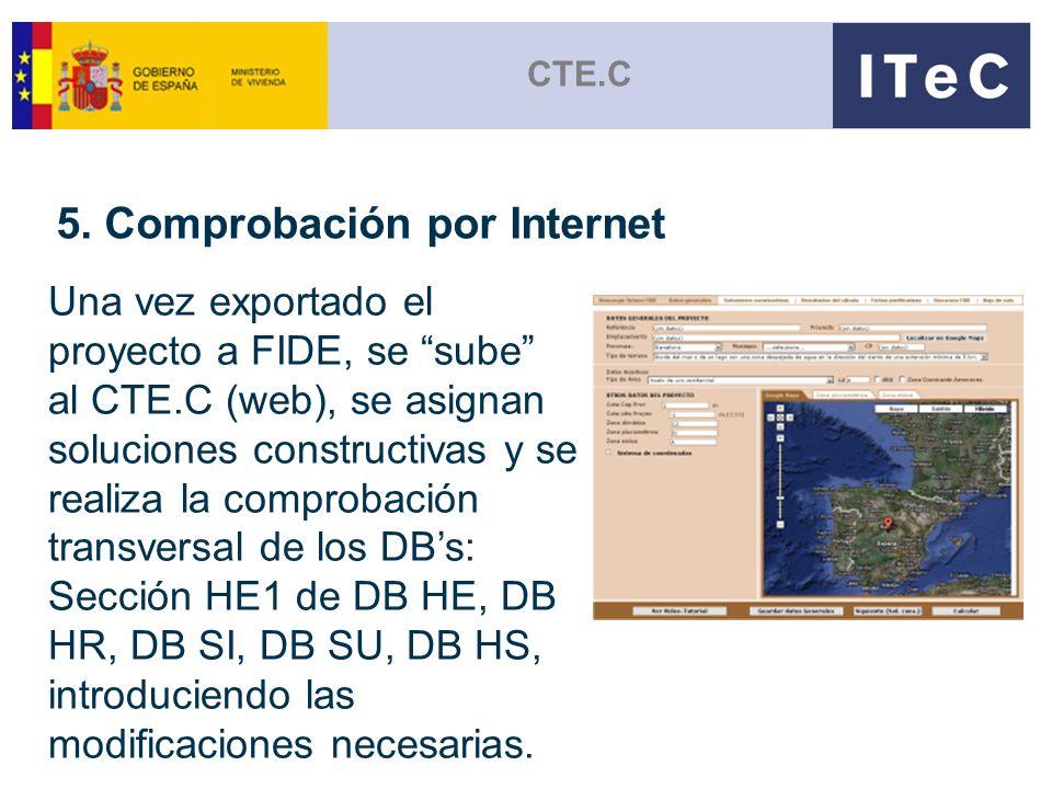 5. Comprobación por Internet