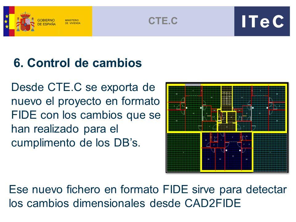 CTE.C 6. Control de cambios.