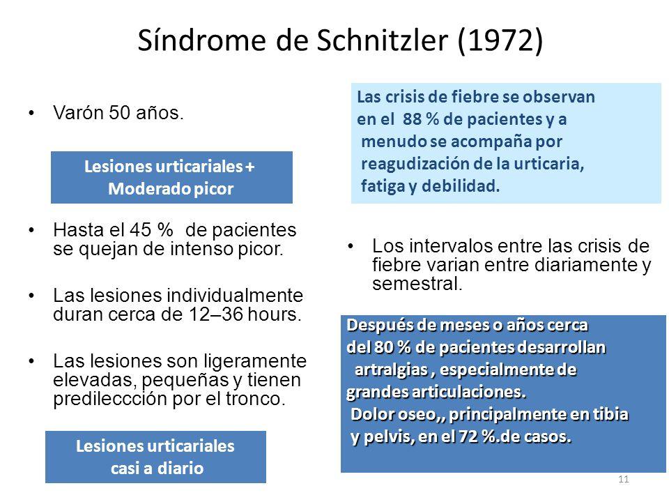 Lesiones urticariales + Lesiones urticariales