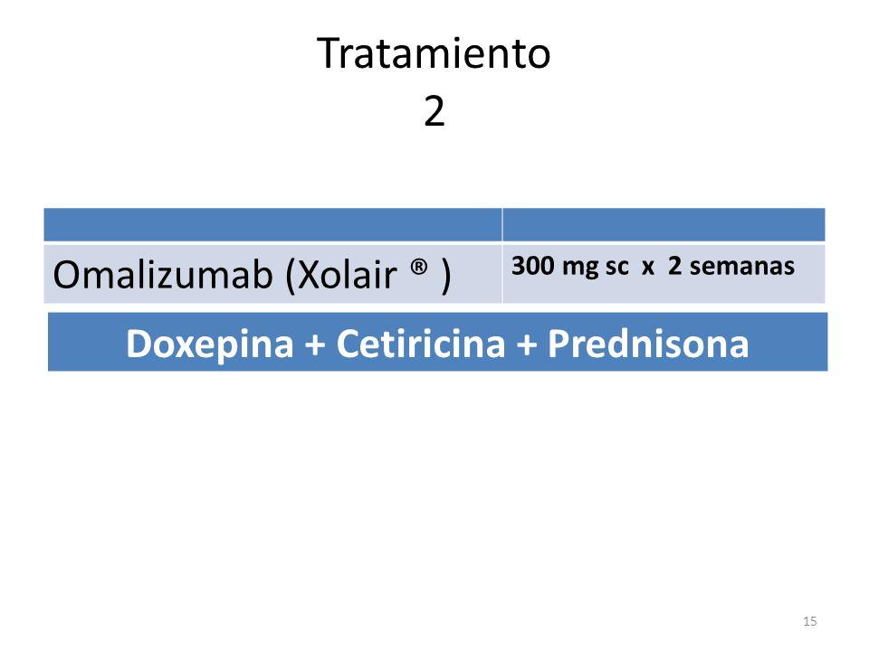Doxepina + Cetiricina + Prednisona