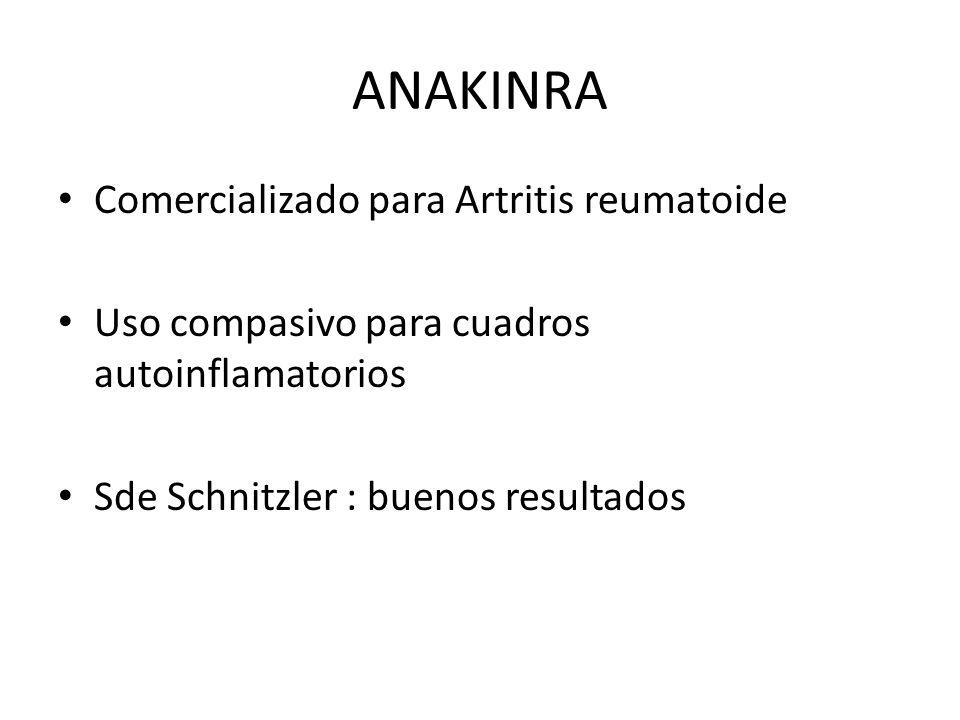 ANAKINRA Comercializado para Artritis reumatoide