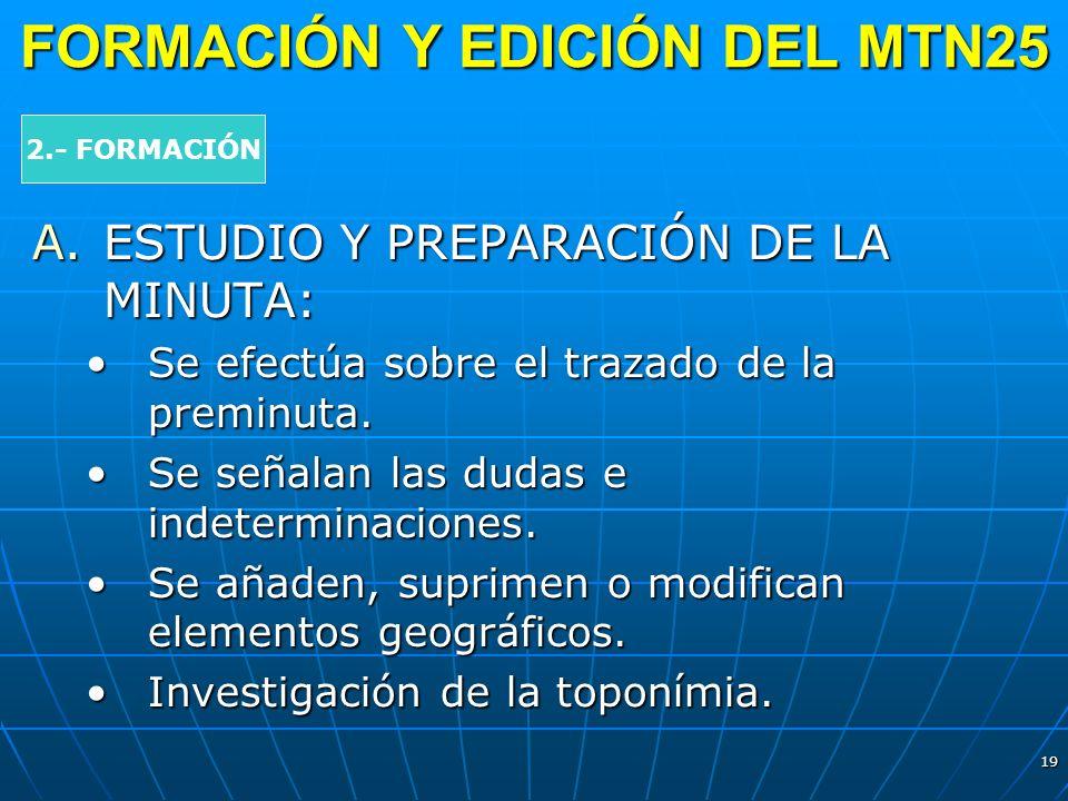 FORMACIÓN Y EDICIÓN DEL MTN25