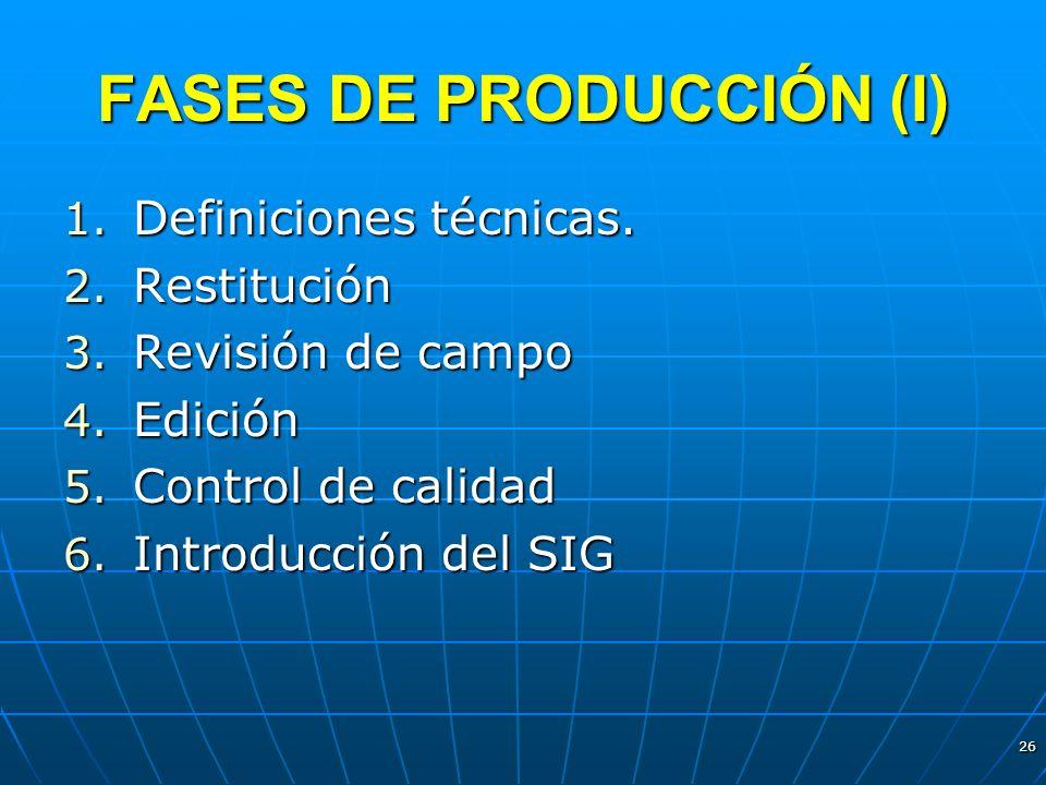 FASES DE PRODUCCIÓN (I)