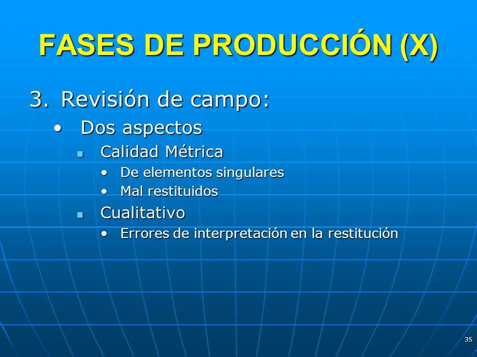 FASES DE PRODUCCIÓN (X)