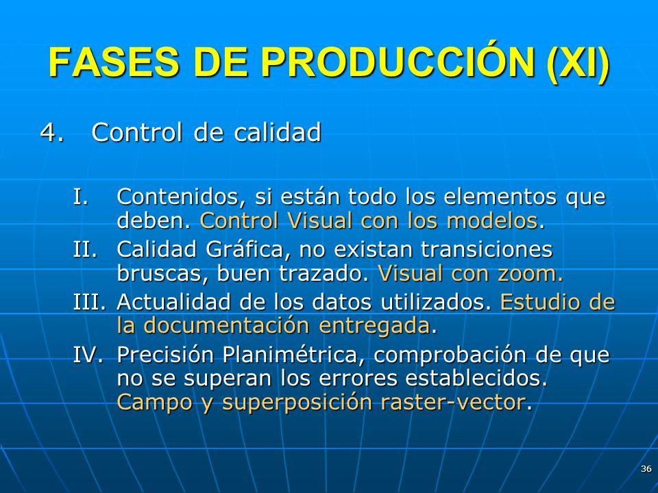 FASES DE PRODUCCIÓN (XI)