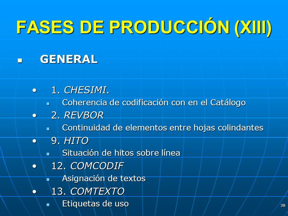 FASES DE PRODUCCIÓN (XIII)