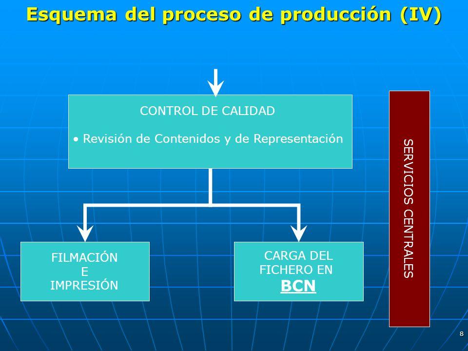 Esquema del proceso de producción (IV)