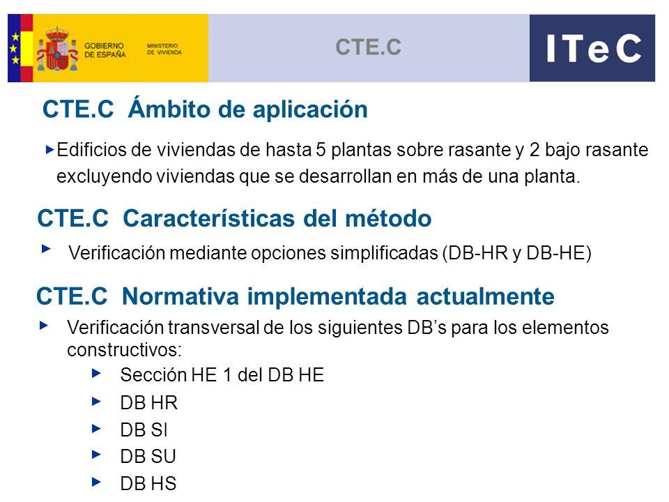 CTE.C Ámbito de aplicación