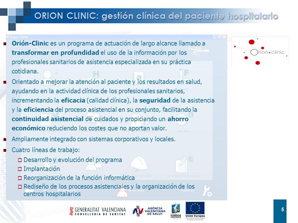 ORION CLINIC: gestión clínica del paciente hospitalario