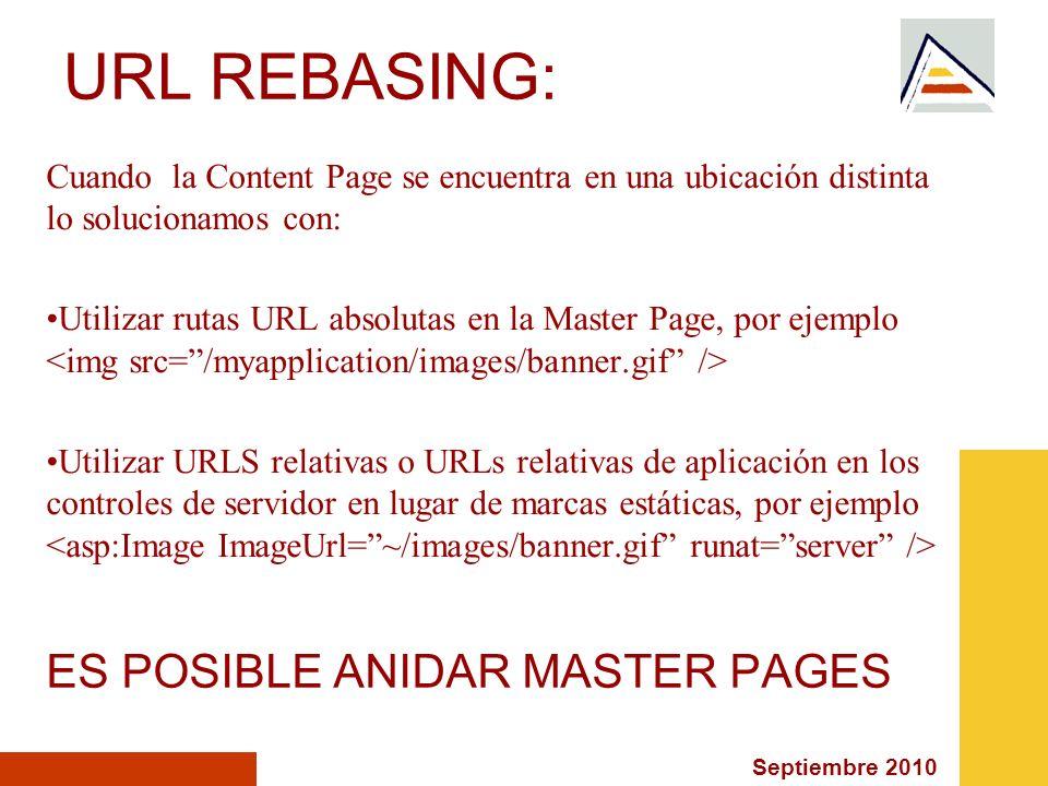 URL REBASING: ES POSIBLE ANIDAR MASTER PAGES