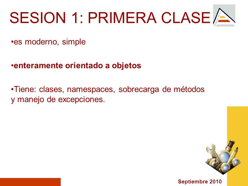 SESION 1: PRIMERA CLASE es moderno, simple