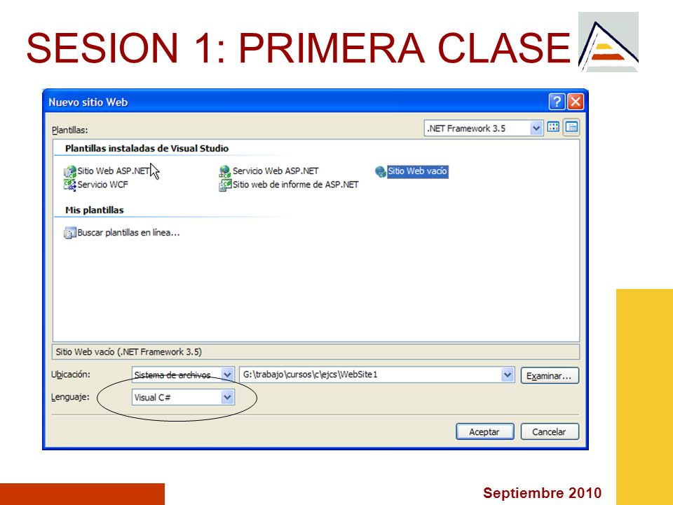 SESION 1: PRIMERA CLASE
