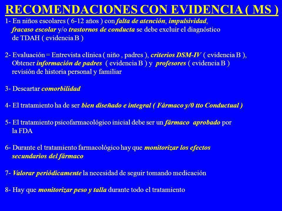 RECOMENDACIONES CON EVIDENCIA ( MS )