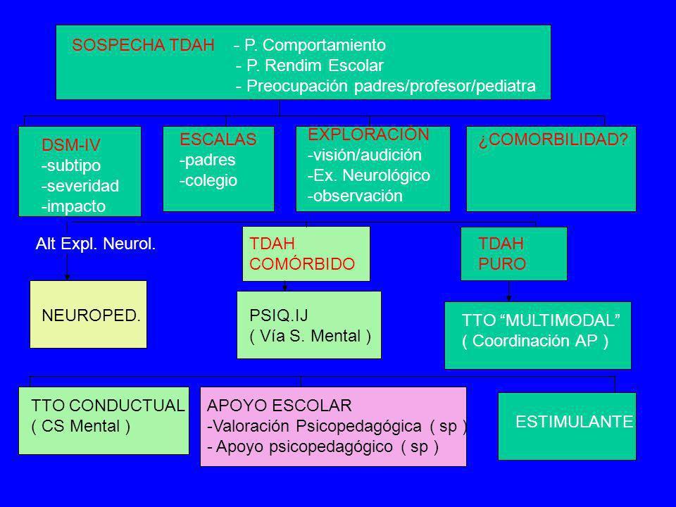 SOSPECHA TDAH - P. Comportamiento
