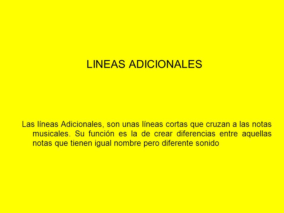 LINEAS ADICIONALES