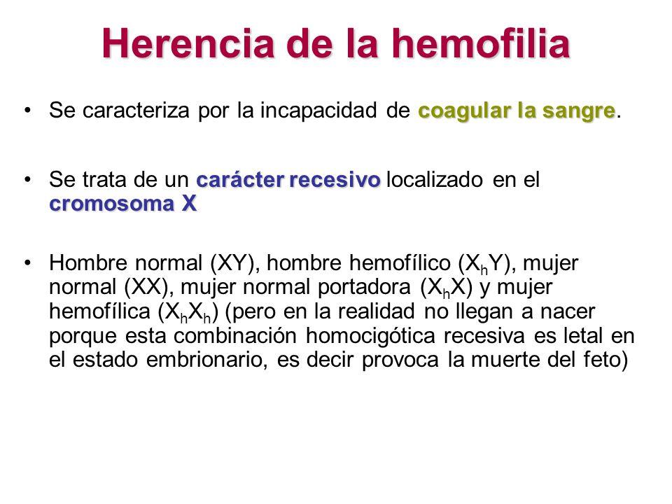 Herencia de la hemofilia