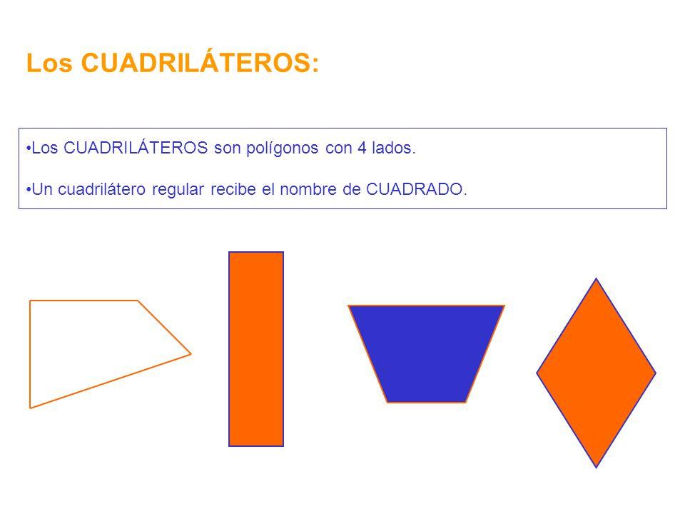 Los CUADRILÁTEROS: Los CUADRILÁTEROS son polígonos con 4 lados.
