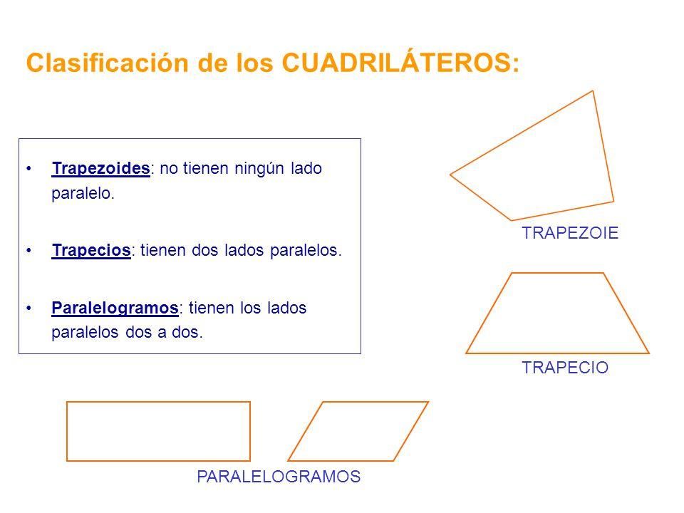 Clasificación de los CUADRILÁTEROS:
