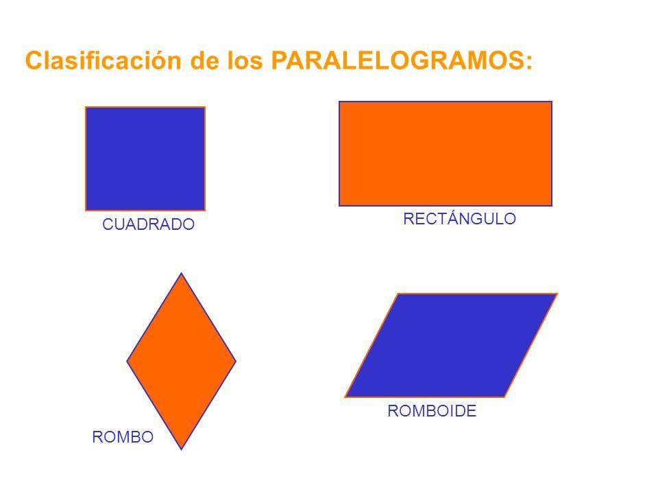 Clasificación de los PARALELOGRAMOS: