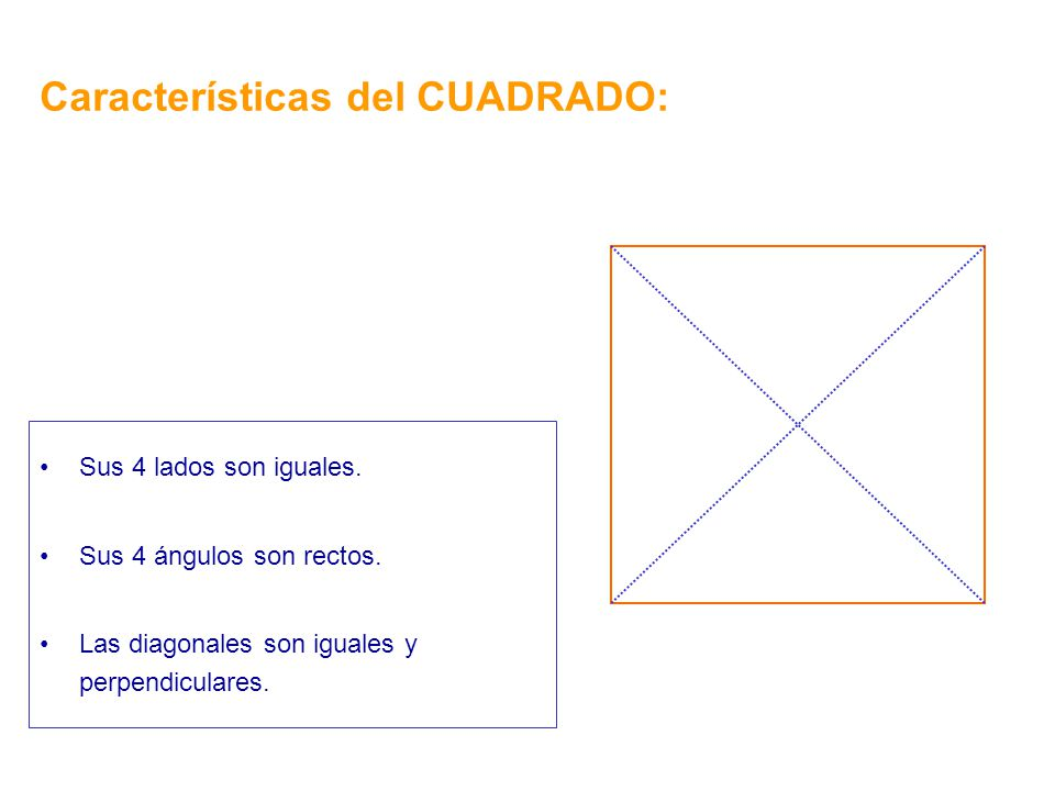 Características del CUADRADO: