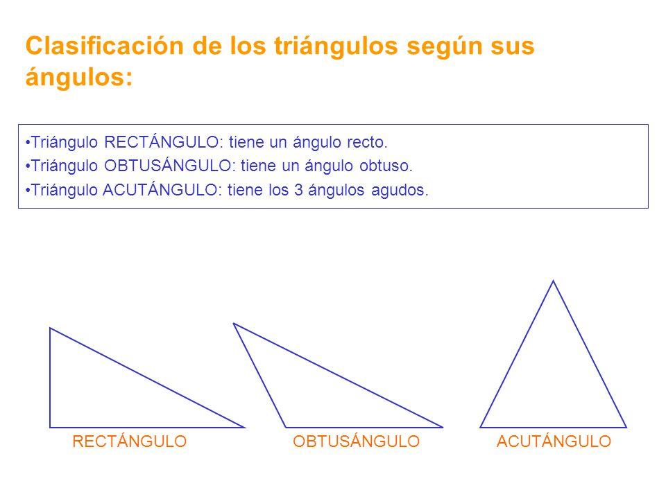 Clasificación de los triángulos según sus ángulos: