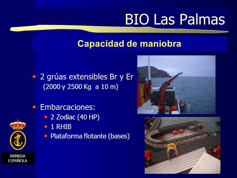 BIO Las Palmas Capacidad de maniobra 2 grúas extensibles Br y Er