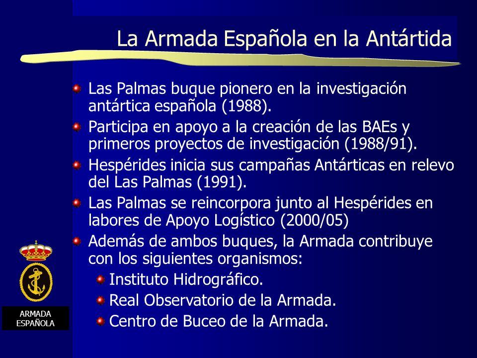 La Armada Española en la Antártida