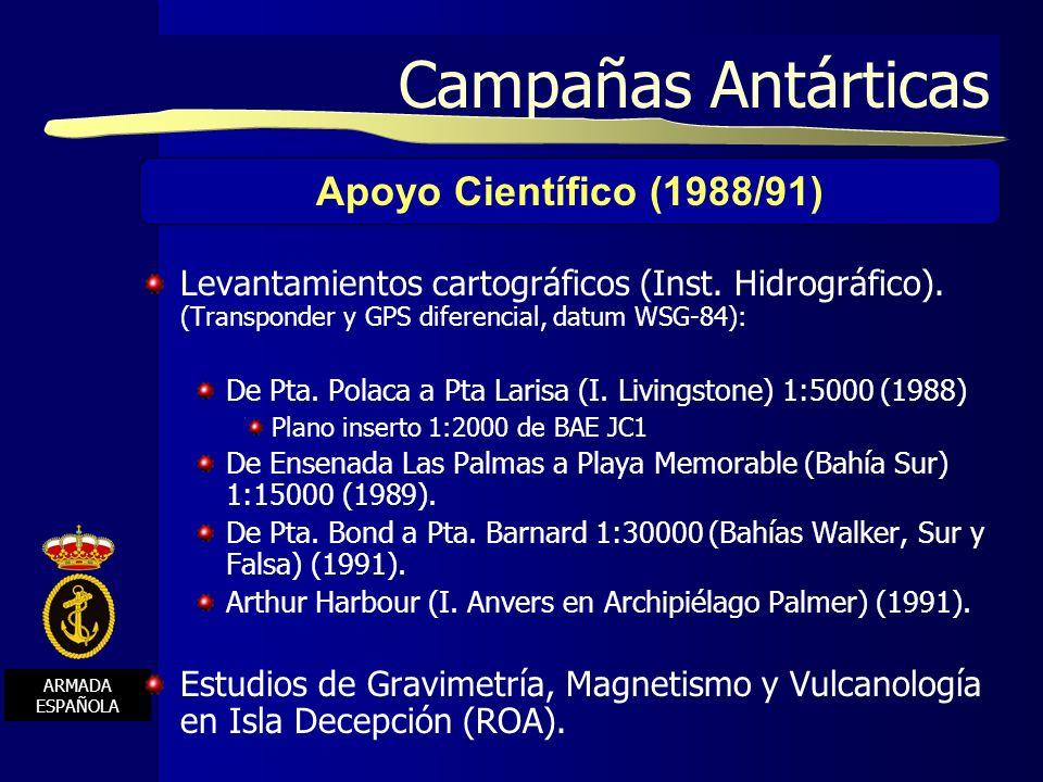 Campañas Antárticas Apoyo Científico (1988/91)