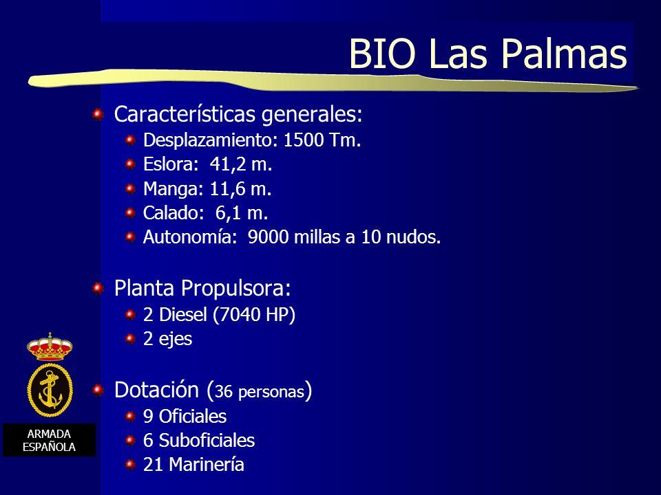 BIO Las Palmas Características generales: Planta Propulsora: