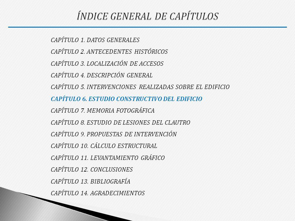 ÍNDICE GENERAL DE CAPÍTULOS