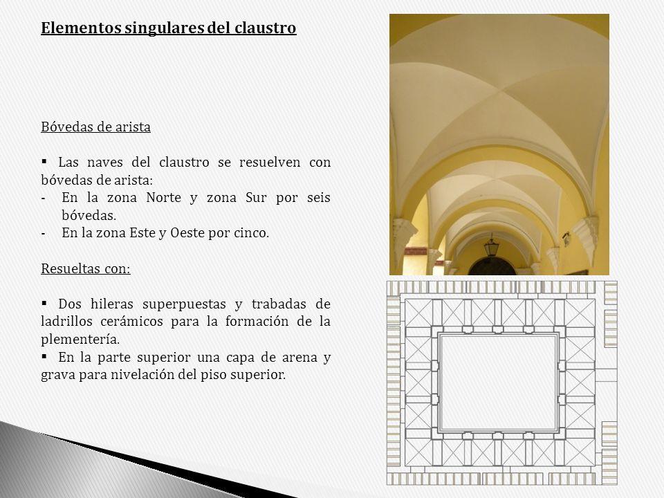 Elementos singulares del claustro