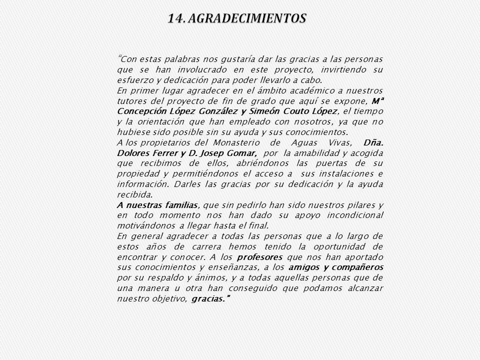 14. AGRADECIMIENTOS