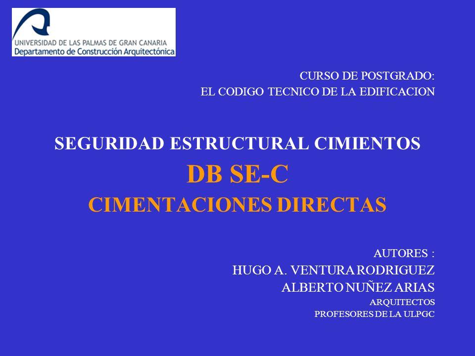 SEGURIDAD ESTRUCTURAL CIMIENTOS CIMENTACIONES DIRECTAS