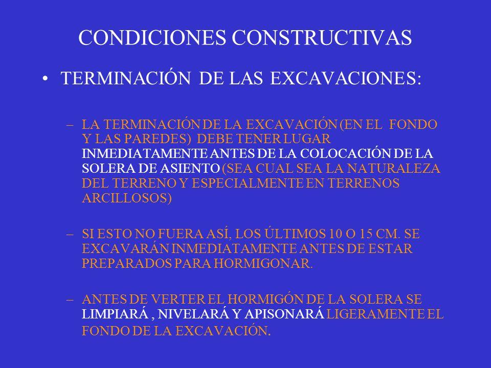 CONDICIONES CONSTRUCTIVAS