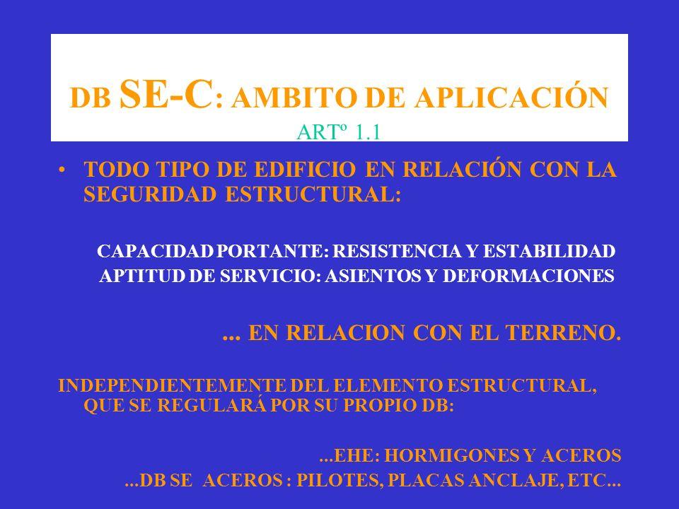 DB SE-C: AMBITO DE APLICACIÓN ARTº 1.1