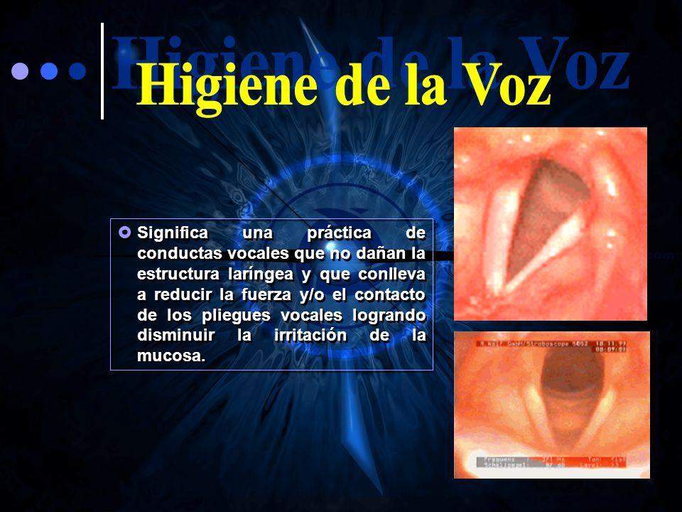 Higiene de la Voz