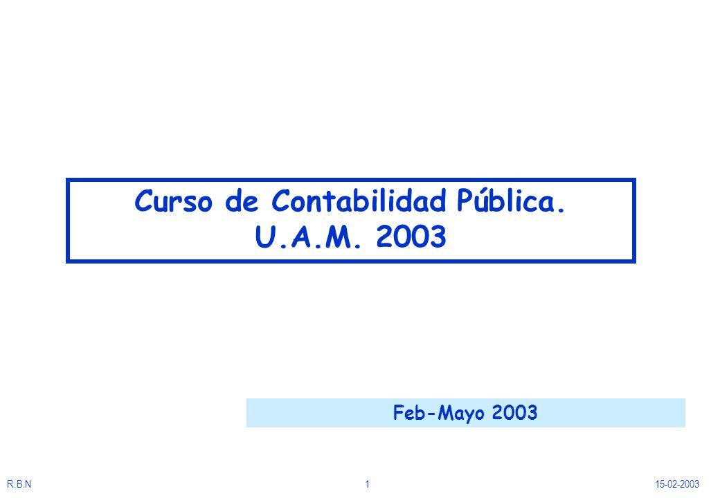 Curso de Contabilidad Pública. U.A.M. 2003