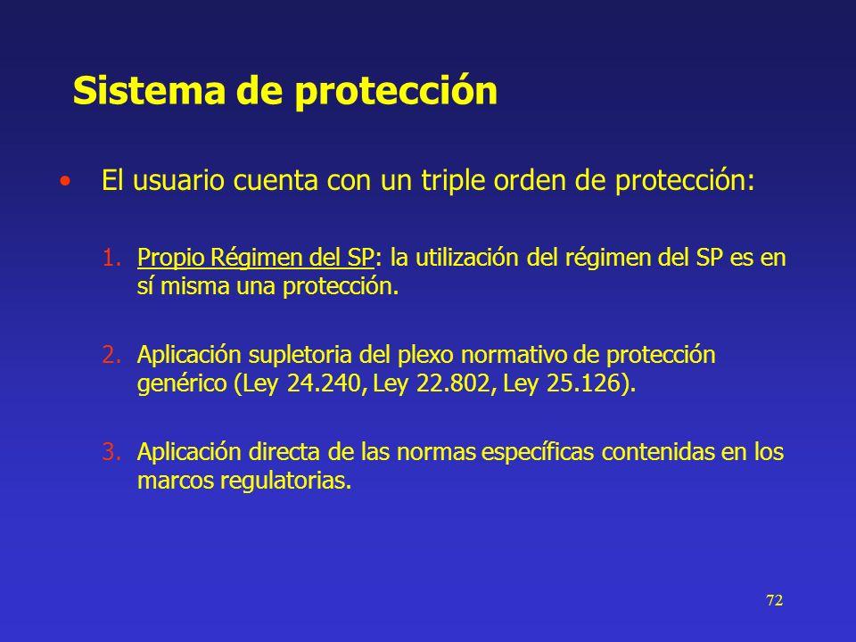Sistema de protecciónEl usuario cuenta con un triple orden de protección: