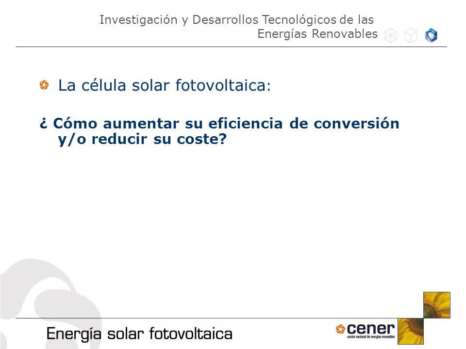 La célula solar fotovoltaica:
