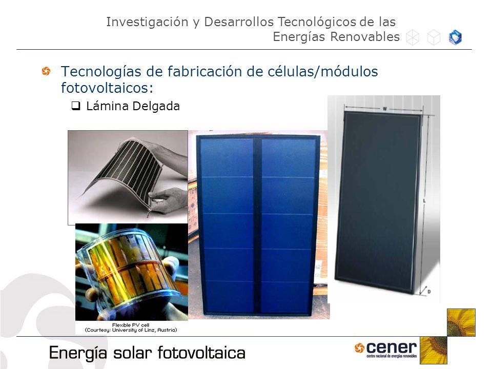 Tecnologías de fabricación de células/módulos fotovoltaicos: