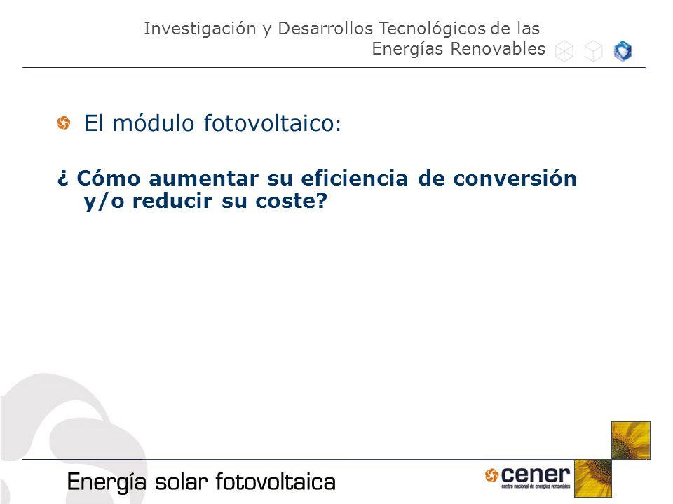 El módulo fotovoltaico: