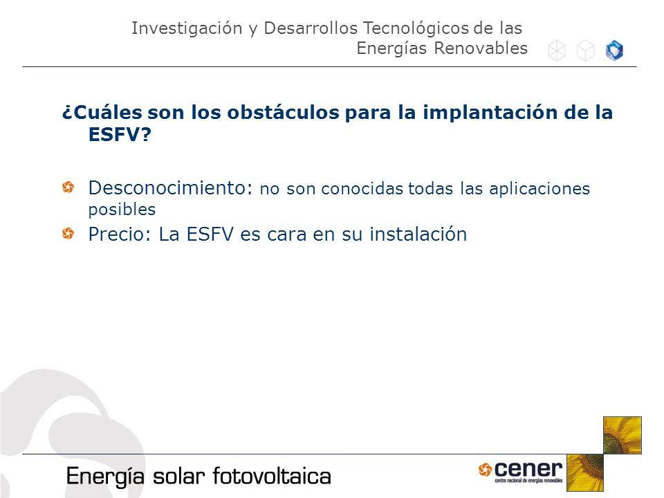 ¿Cuáles son los obstáculos para la implantación de la ESFV