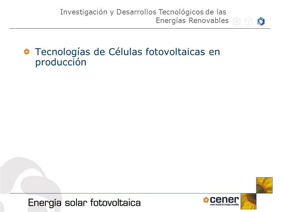 Tecnologías de Células fotovoltaicas en producción
